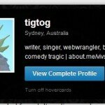 The hovercard you should see if you hover over tigtog's gravatar